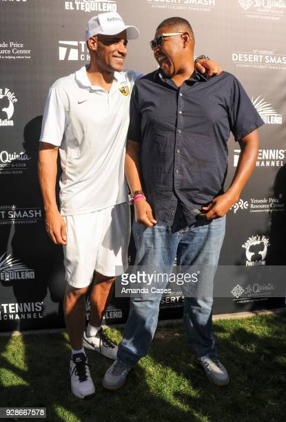 Boris Kodjoe and Omar Miller arrive at The 14th Annual Desert Smash Celebrity Tennis Event on March 6 2018 in La Quinta California