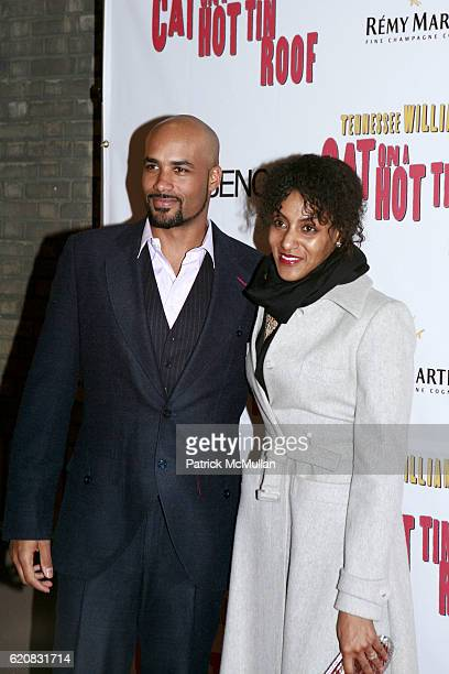 Boris Kodjoe and Sarah Jones attend Broadway Premiere of Cat On A Hot Tin Roof at Broadhurst Theater on March 6 2008 in New York City