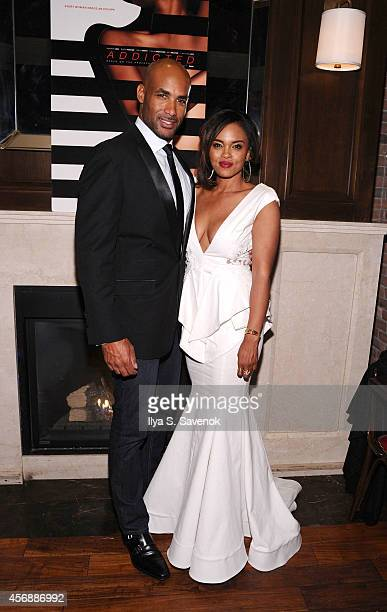 Boris Kodjoe and Sharon Leal attend 'Addicted' New York Premiere After Party at Jade Hotel on October 8 2014 in New York City