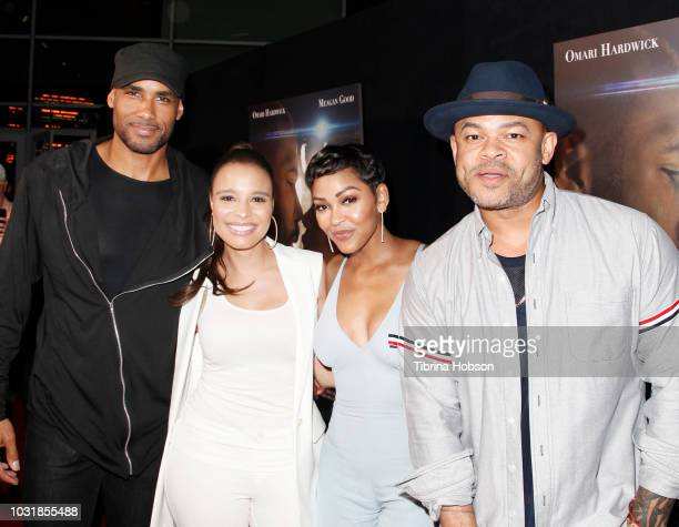 Boris Kodjoe Antonique Smith Meagan Good and Anthony Hemingway attend the Premiere Of A Boy A Girl A Dream' at ArcLight Hollywood on September 11...