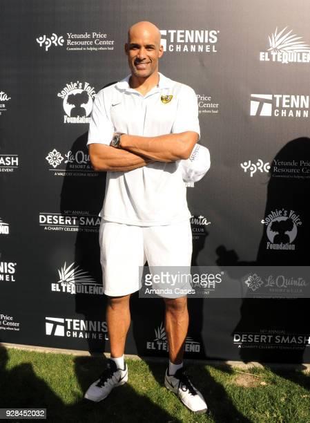 Boris Kodjoe arrives at The 14th Annual Desert Smash Celebrity Tennis Event on March 6 2018 in La Quinta California