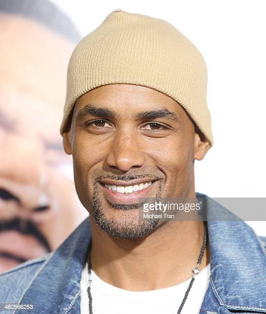 Boris Kodjoe arrives at the Los Angeles premiere of 'Ride Along' held at TCL Chinese Theatre on January 13 2014 in Hollywood California