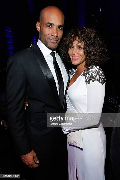 Boris Kodjoe Nicole Ari Parker and attend the Inaugural Ball hosted by BET Networks at Smithsonian American Art Museum National Portrait Gallery on...