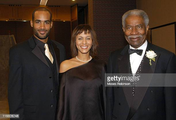 Boris Kodjoe Nicole Parker and Ossie Davis during Morehouse College Presents A Candle in the Dark 2004 Gala at Hyatt Regency Atlanta in Atlanta...