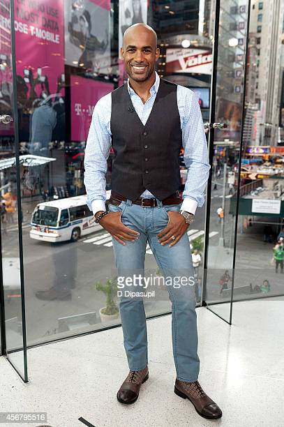 Boris Kodjoe visits 'Extra' at their New York studios at HM in Times Square on October 7 2014 in New York City