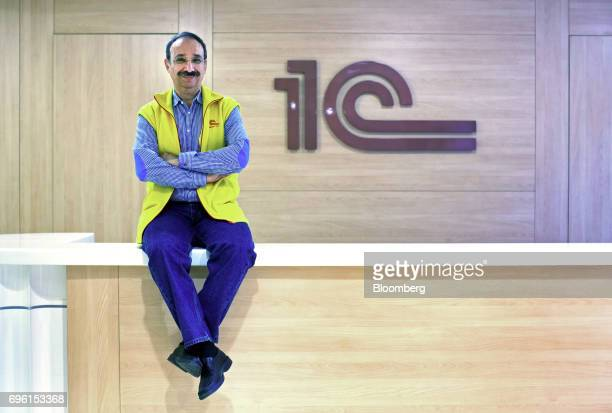 Boris Nuraliev billionaire and chief executive officer of 1C poses for a photograph at the company's headquarters in Moscow Russia on Thursday May 18...