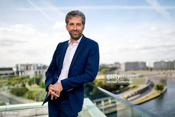 Boris Palmer mayor of german town of Tuebingen attends a internview on September 20 2016 in Berlin Germany