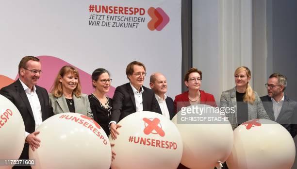 Boris Pistorius, Petra Koepping, Nina Scheer, Karl Lauterbach, Olaf Scholz, Klara Geywitz, Christina Kampmann and Michael Roth, candidates as...