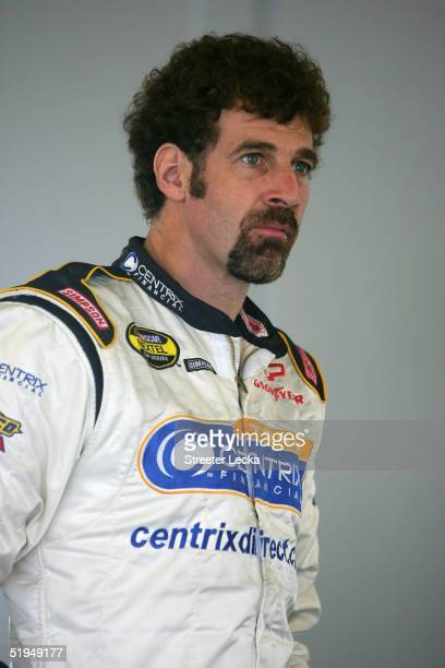 Boris Said driver of the Centrix Chevrolet in the garage during Nascar Nextel Cup testing January 13 2005 at Daytona International Speedway in...