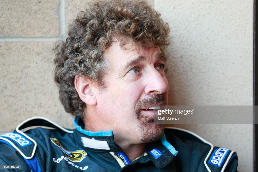 Boris Said, driver of the #33 Chevrolet, sits in the garage during practice for the Monster Energy NASCAR Cup Series Toyota/Save Mart 350 at Sonoma Raceway on June 23, 2017 in Sonoma, California.