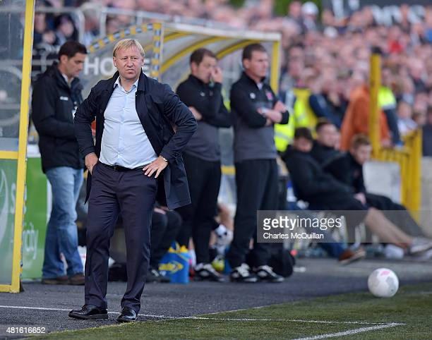 Borisov manager Aleksandr Yermakovich during the Champions League 2nd round qualifying game between Dundalk FC and BATE Borisov at Oriel Park on July...