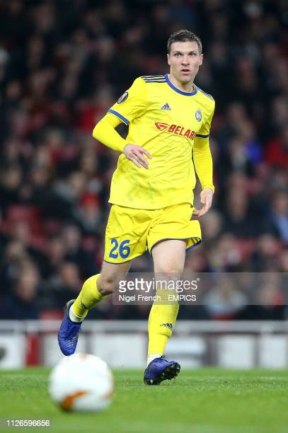 Borisov's Nemanja Milic Arsenal v FC BATE Borisov UEFA Europa League Round of 32 Second Leg Emirates Stadium
