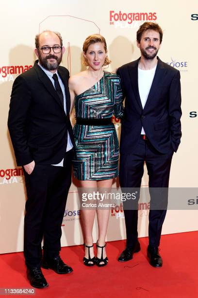 Borja Cobeaga Cecilia Freire and Julian Lopez attend the Fotogramas Awards 2019 at Florida Park Club on March 04 2019 in Madrid Spain