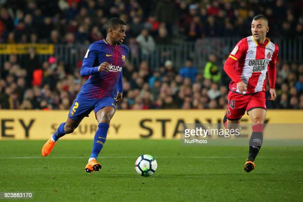 Borja Garcia and Nelson Semedo during the match between FC Barcelona and Girona FC for the round 25 of the Liga Santander played at the Camp Nou...