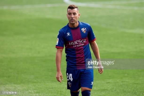 Borja Garcia of SD Huesca looks on during the La Liga Santander match between SD Huesca and Cadiz CF at Estadio El Alcoraz on September 20 2020 in...