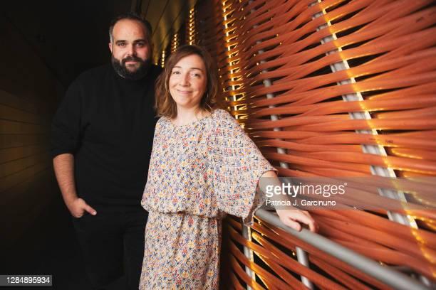 Borja Glez. Santaolalla and Diana Rojo, writers and creators of 'Luimelia' ATRESplayer Premium serie, pose during a portrait session at Cineteca on...