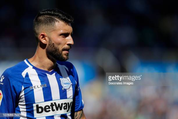 Borja Gonzalez Tomas of Deportivo Alaves CF during the La Liga Santander match between Deportivo Alaves v Espanyol at the Estadio de Mendizorroza on...
