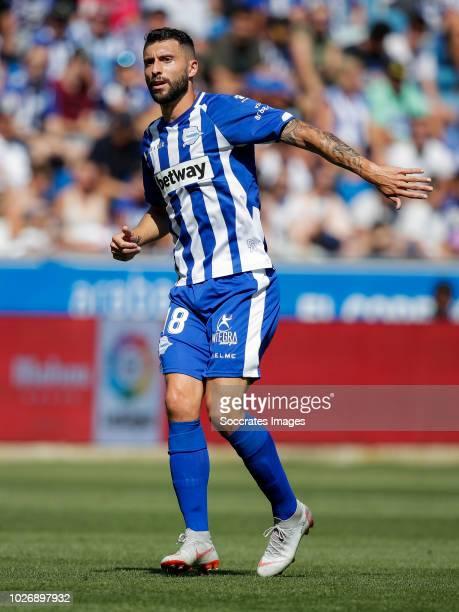 Borja Gonzalez Tomas of Deportivo Alaves CF during the La Liga Santander match between Deportivo Alaves v Espanyol at the Estadio de Mendizorroza on...