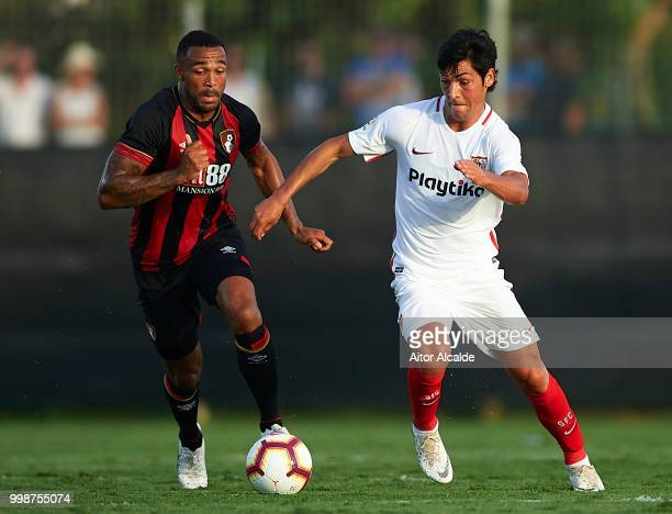 Borja Lasso of Sevilla FC being followed by Callum Wilson of AFC Bournemouth during Pre Season friendly Match between Sevilla FC and AFC Bournemouth...