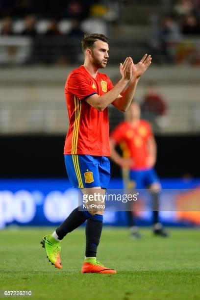Borja Mayoral during the friendly match of national teams U21 of Spain vs Denmark in stadium Nueva Condomina Murcia SPAIN March 23rd 2017