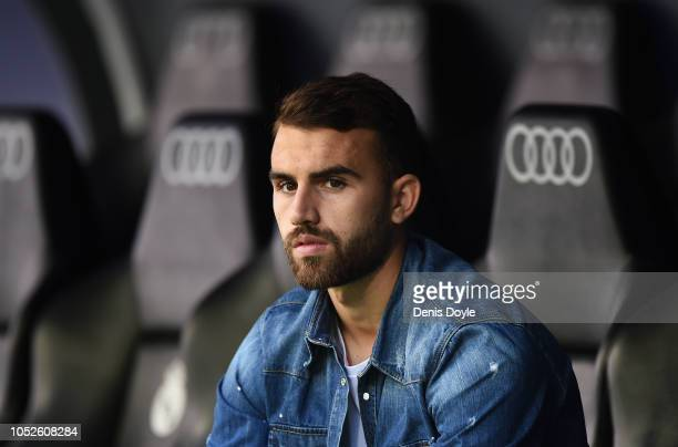 Borja Mayoral of Levante looks on before the La Liga match between Real Madrid CF and Levante UD at Estadio Santiago Bernabeu on October 20, 2018 in...