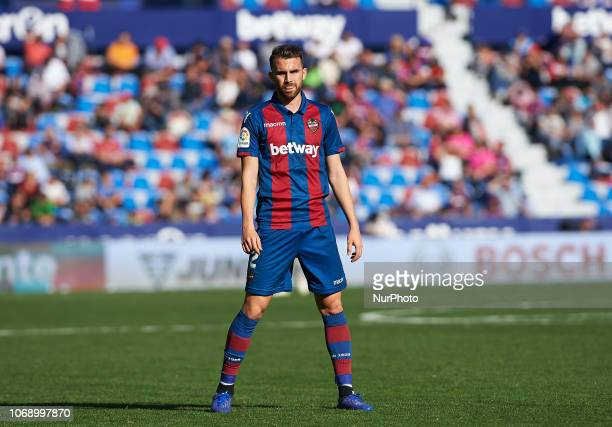 Borja Mayoral of Levante UD during the Copa del Rey match between Levante UD and Club Deportivo Lugo at Ciutat de Valencia Stadium on December 6 2018...
