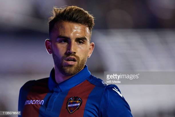 Borja Mayoral of Levante UD looks on during the La Liga match between Levante UD and Villarreal CF at Ciutat de Valencia on March 10 2019 in Valencia...