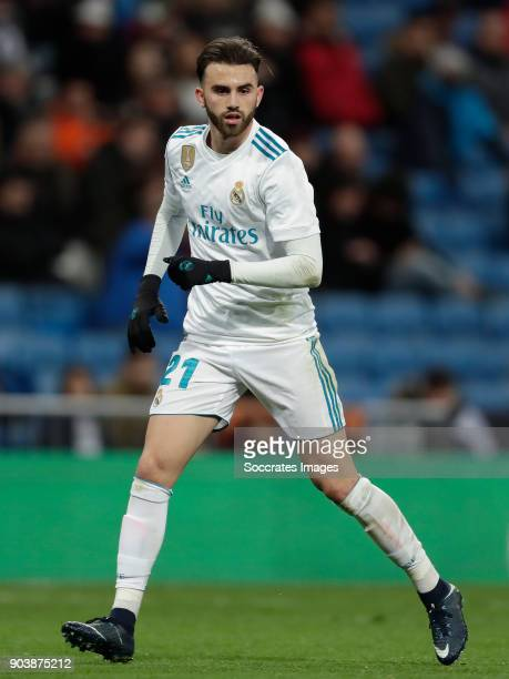 Borja Mayoral of Real Madrid during the Spanish Copa del Rey match between Real Madrid v Numancia on January 10 2018
