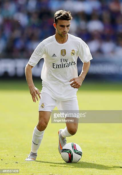 Borja Mayoral of Real Madrid in action during the preseason friendly match between Valerenga and Real Madrid at Ullevaal Stadion on August 9 2015 in...