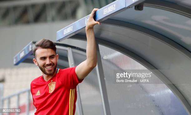 Borja Mayoral of Spain prior to the MD1 training session of the U21 national team of Spain at Krakow stadium on June 29 2017 in Krakow Poland