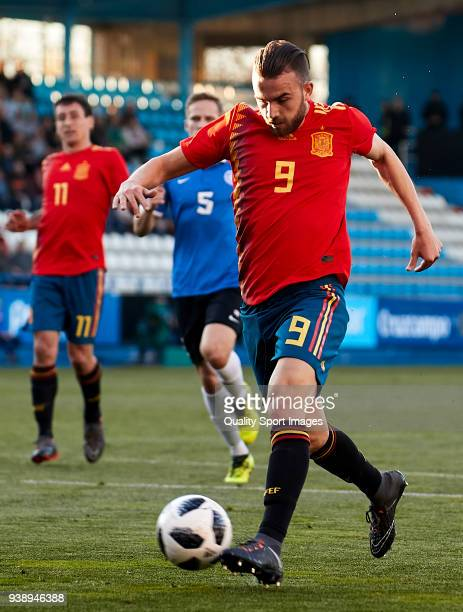 Borja Mayoral of Spain U21 in action during the 2019 UEFA Under 21 qualification match between Spain U21 and Estonia U21 at Toralin Stadium on March...