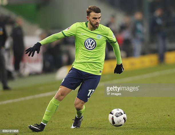 Borja Mayoral of Wolfsburg in action during the Bundesliga match between Borussia Moenchengladbach and VfL Wolfsburg at BorussiaPark on December 20...