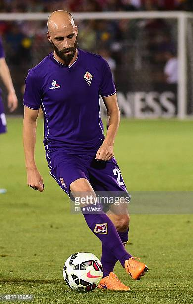 Borja Valero of ACF Fiorentina in action during an International Champions Cup 2015 match against SL Benfica at Rentschler Field on July 24 2015 in...