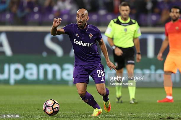 Borja Valero of ACF Fiorentina in action during the Serie A match between ACF Fiorentina and AS Roma at Stadio Artemio Franchi on September 18 2016...