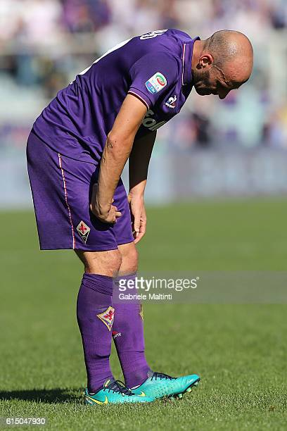 Borja Valero of ACF Fiorentina in action during the Serie A match between ACF Fiorentina and Atalanta BC at Stadio Artemio Franchi on October 16 2016...