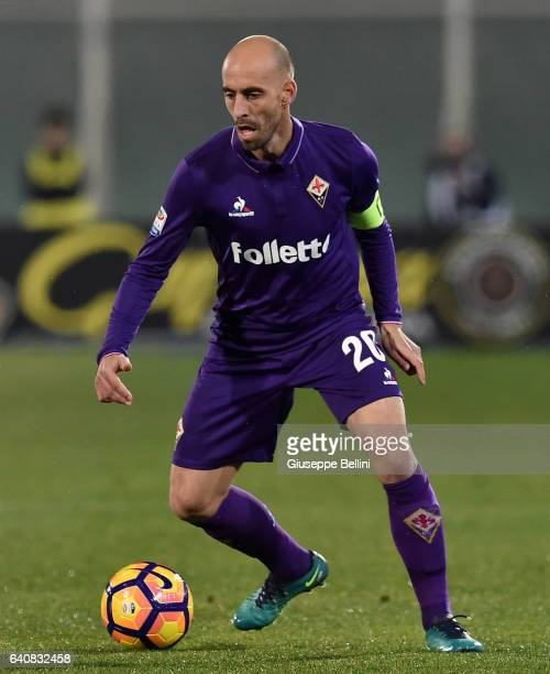 Borja Valero of ACF Fiorentina in action during the Serie A match between Pescara Calcio and ACF Fiorentina at Adriatico Stadium on February 1 2017...