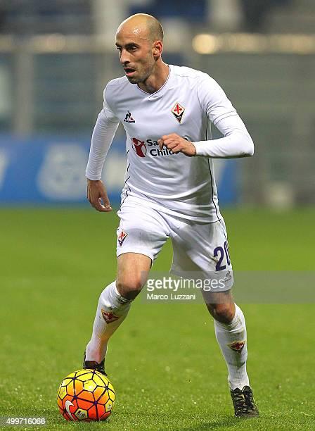 Borja Valero of ACF Fiorentina in action during the Serie A match between US Sassuolo Calcio and ACF Fiorentina at Mapei Stadium Città del Tricolore...