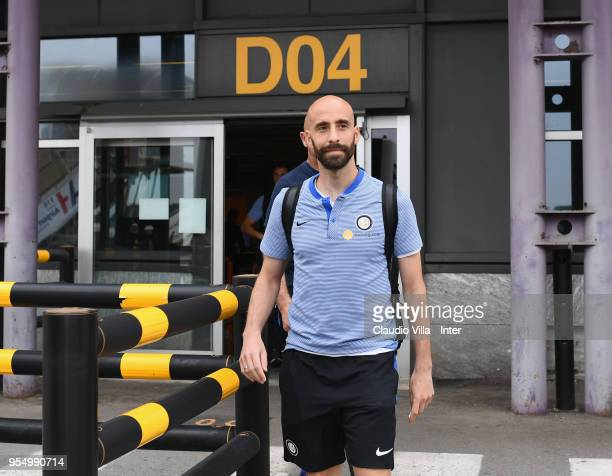 Borja Valero of FC Internazionale departs to Udine on May 5 2018 in Milan Italy