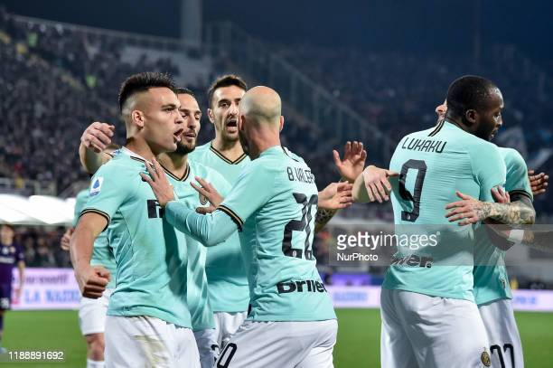 Borja Valero of FC Internazionale former player of ACF Fiorentina doesnt celebrate as he scored first goal during the Serie A match between ACF...