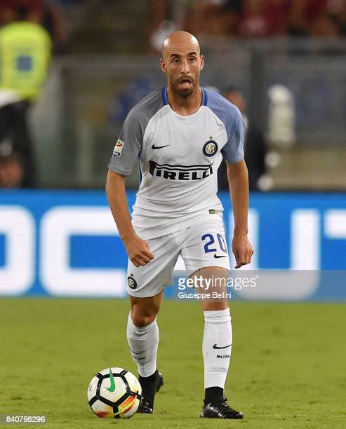 Borja Valero of FC Internazionale in action during the Serie A match between AS Roma and FC Internazionale at Stadio Olimpico on August 26 2017 in...
