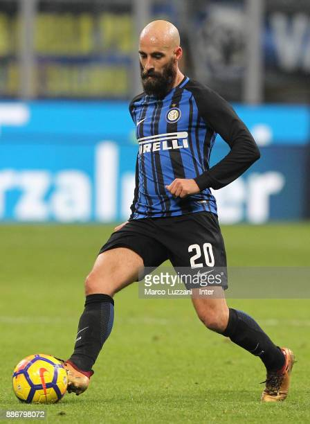 Borja Valero of FC Internazionale in action during the Serie A match between FC Internazionale and AC Chievo Verona at Stadio Giuseppe Meazza on...