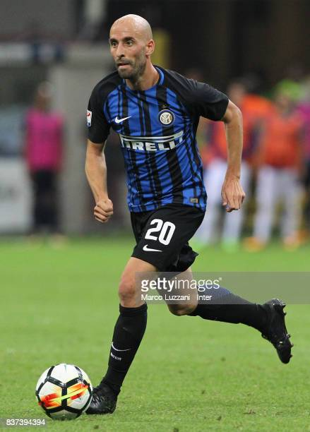 Borja Valero of FC Internazionale Milano in action during the Serie A match between FC Internazionale and ACF Fiorentina at Stadio Giuseppe Meazza on...