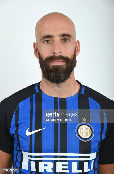 Borja Valero of FC Internazionale poses on July 10 2017 in Reischach near Bruneck Italy