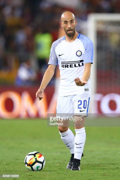 Borja Valero of Internazionale during the Serie A match between AS Roma and FC Internazionale on August 26 2017 in Rome Italy