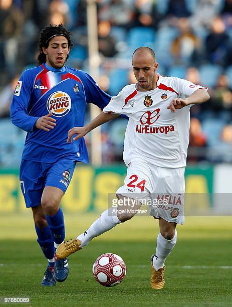 Borja Valero of Mallorca in action during the La Liga match between Getafe and Mallorca at Coliseum Alfonso Perez on March 13 2010 in Getafe Spain