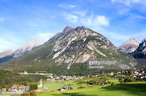 Bormio view in Lombardy Italy