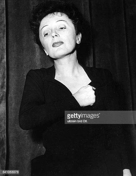 EDITH PIAF Born Edith Giovanna Gassion French singer and actress Photographed in 1956
