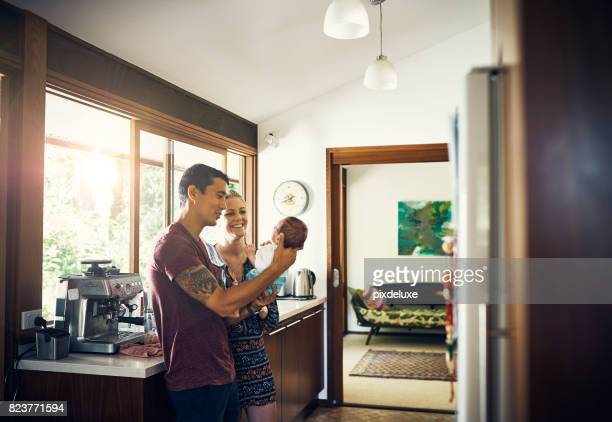 born from love - young family stock pictures, royalty-free photos & images