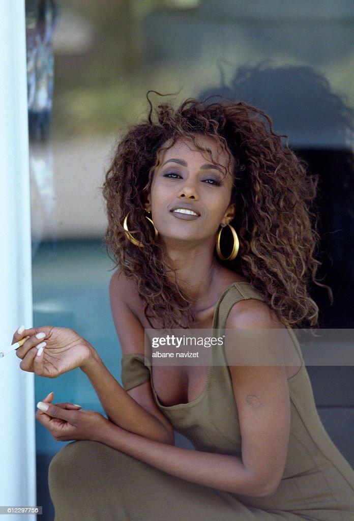 Somali fashion model Iman : News Photo