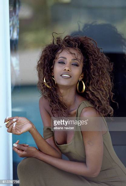 Born in Somalia top model Iman was first spotted as a student in Kenya and moved to the USA where she worked for Vogue and Revlon She is married to...